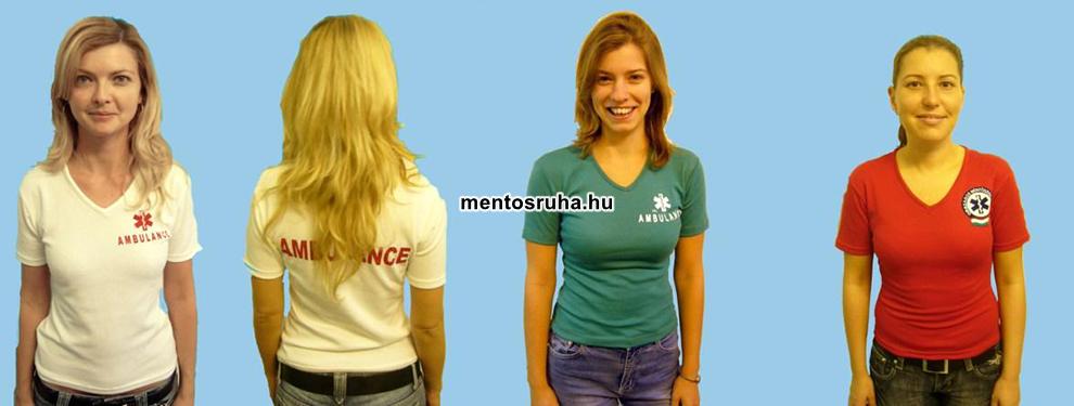 d210ebaa21 Női póló v kivágással, elasztikus pamutból készül. Van hosszú és rövid ujjú  változata is! Felirat igény szerint! 4445.-Ft/db.